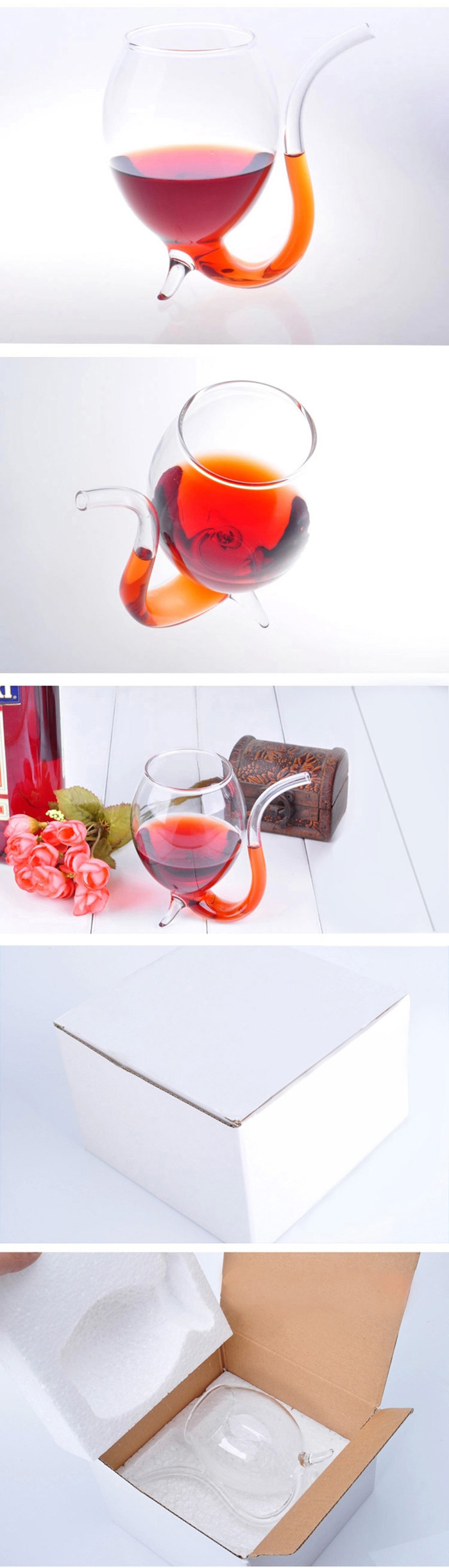 300 ML Transparent High Borosilicate Glass Novel Vampire Devil Red Wine / Juice Cup