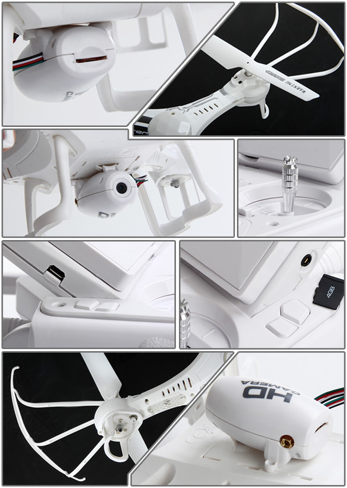 XIN LIN X118 Headless 5.8GHz FPV 2.4GHz 6 Axis Gyro 6 Channel RC Quadcopter with 0.3MP HD Camera