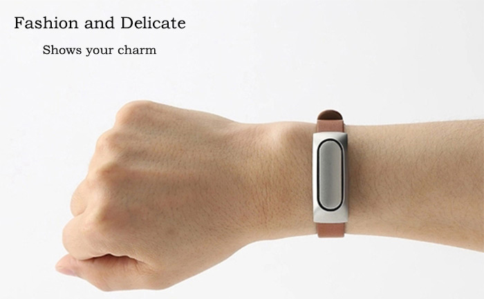Leather Wristband Strap Watchband for Xiaomi Miband 1 / 1S