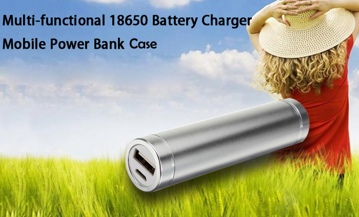 Portable DIY Mobile Power Bank Case 18650 Battery Charger for LED Flashlight