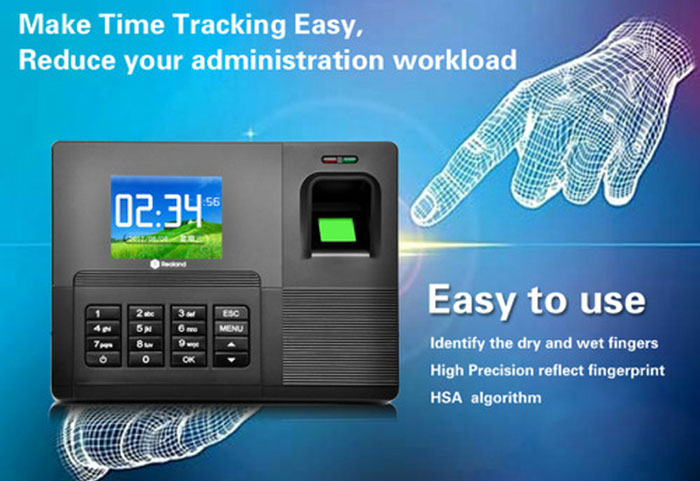 Realand A-C030 2.8 TFT Fingerprint Time Attendance Clock Employee Payroll Recorder 3 Identification Mode for Company School