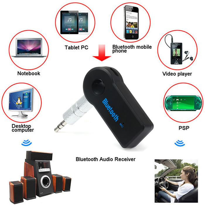 Kextech Car Bluetooth Music Receiver With Hands Free Function: Bluetooth 3.0 Car Audio Music Receiver With Handsfree Function Mic WHITE USB CABLE-$2.99 Online