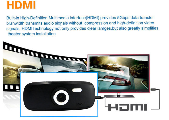 G1W-C 2.7 inch 1080P Full HD Car DVR Novatek Chip 4X Digital Zoom 120 Degrees Angle Video Recorder (Capacitor Battery)