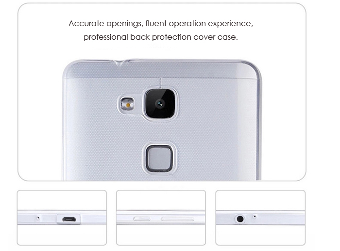 Ultrathin Transparent TPU Back Cover Case for Huawei Mate 7