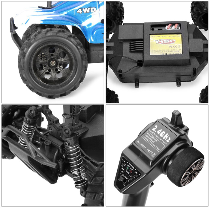 HSP 94246 1 / 24 Scale 2 Channel 2.4G 4WD High Speed Remote Control Toy RC Car