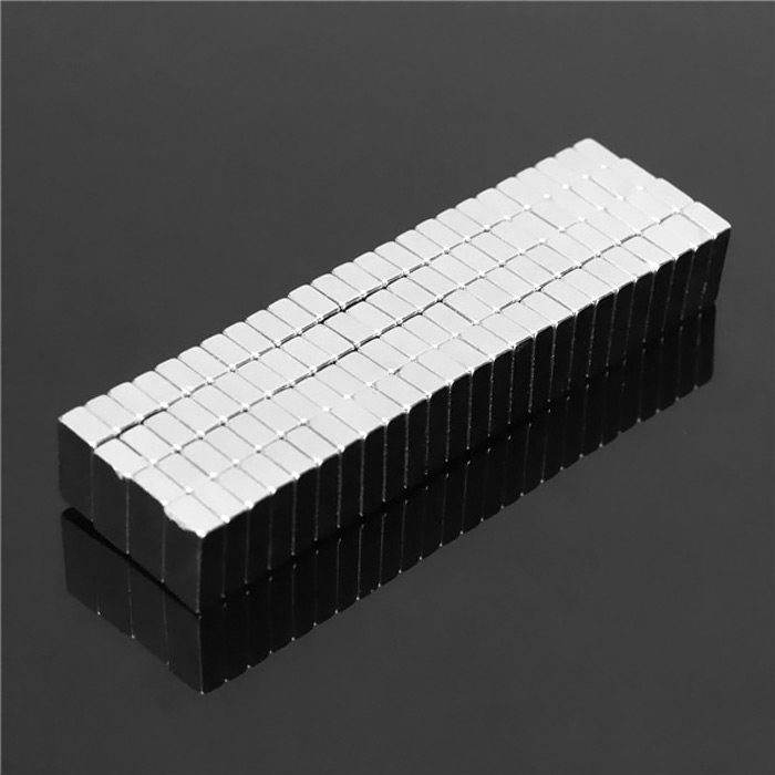 50PCS 8 x 3 x 2mm N35 Strong Block Magnets Rare Earth Neodymium