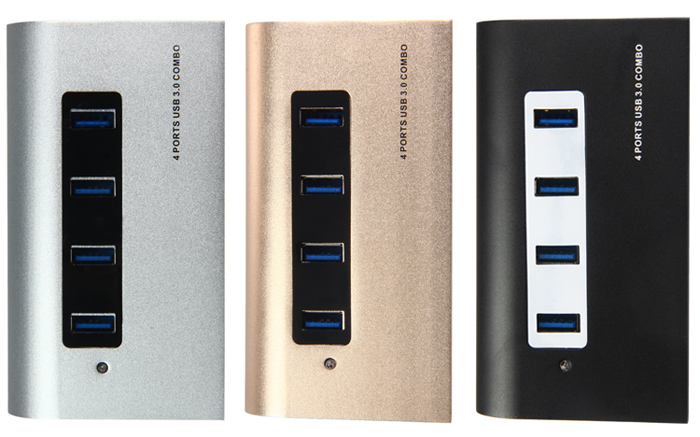 5Gbps 4 Ports USB 3.0 Hub + TF / SD Card Reader with LED Indication for Home Office