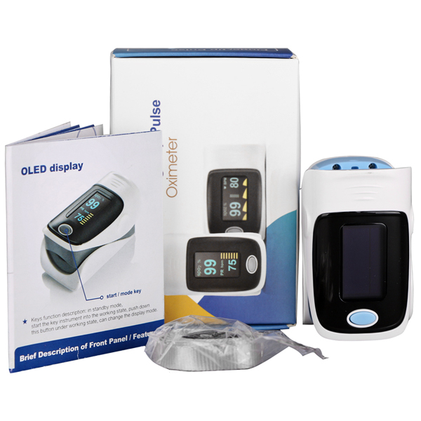 RZ001 Fingertip Pulse Oximeter SpO2 Rate Oxygen Monitor with 4 Directions Display / Low Power Indication
