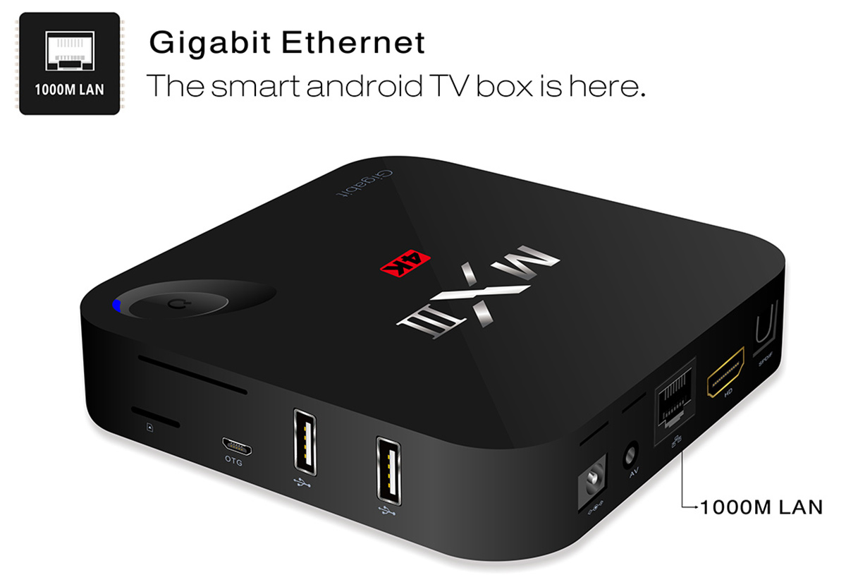 Mxiii G Tv Box Android 5 1 1000m Lan 1gb 8gb 56 24 Online