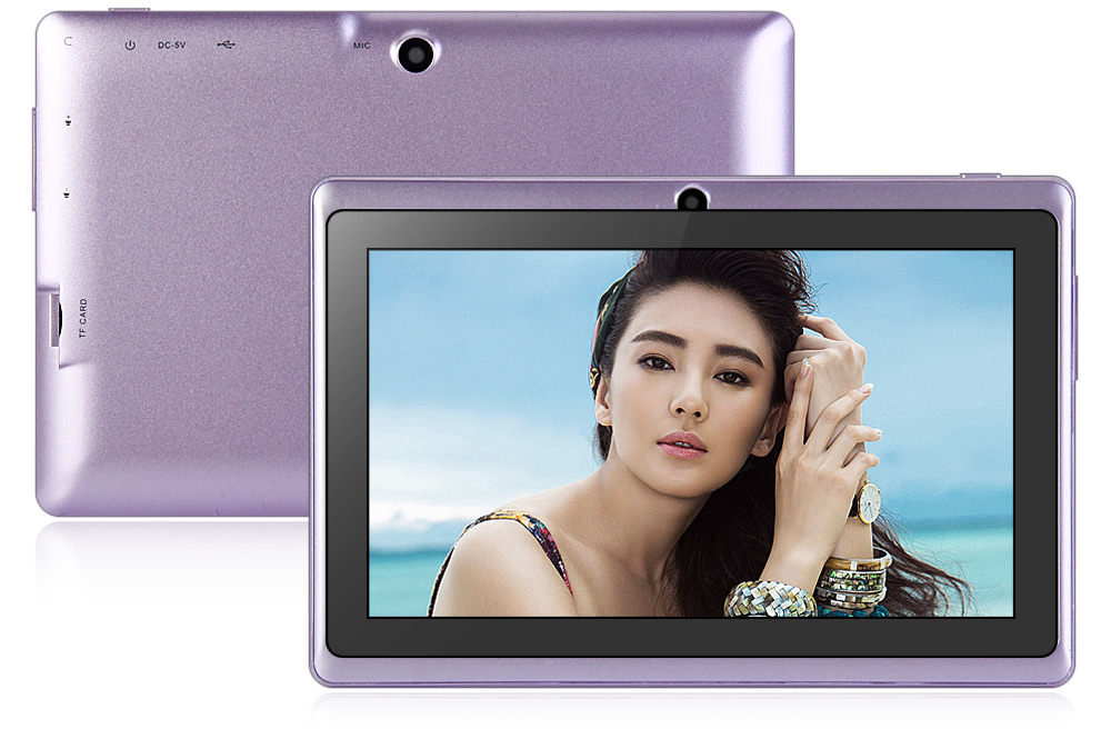 7 inch Q88H Android 4.4 Tablet PC WVGA Screen A33 Quad Core 1.3GHz 512MB RAM 8GB ROM WiFi Bluetooth