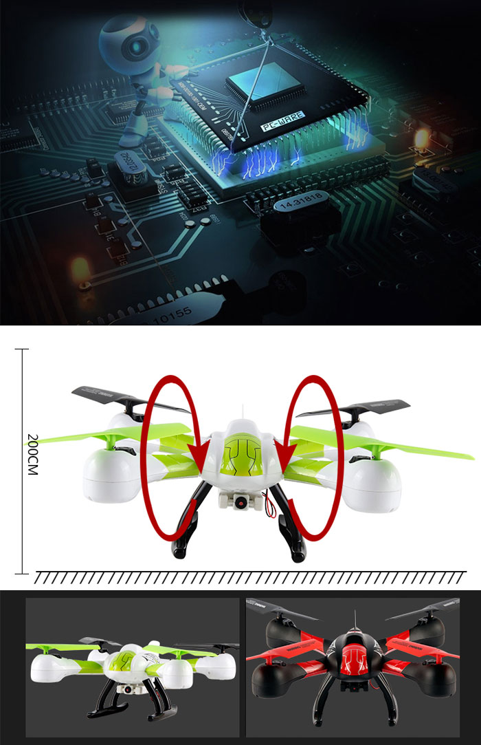 SKY HAWKEYE 1315W Headless Mode WIFI FPV Real Time Transmission 4CH 2.4G RC Quadcopter with Camera