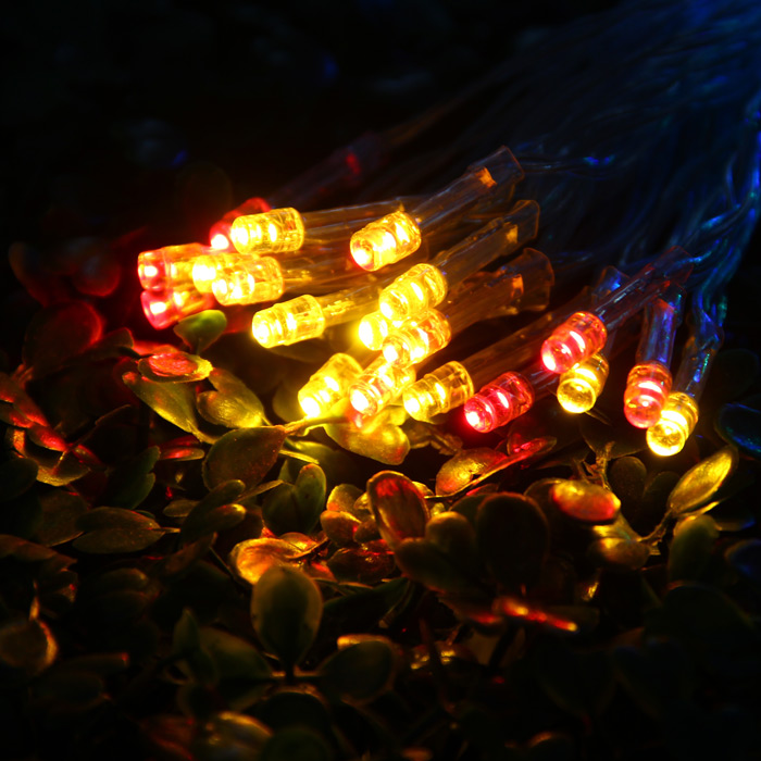 YouOkLight 3M 30 LED Color Charging RGB Fairy String Light Christmas Holiday Wedding Parties Decoration ( AA Battery Operated )