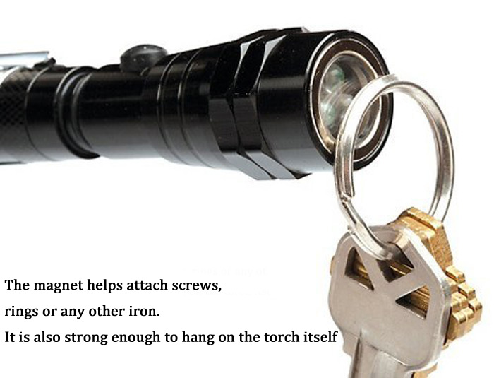 200LM Single Modes Flexible LED Flashlight for Camping / Hiking / Cycling ( 4 x LR44 Battery )