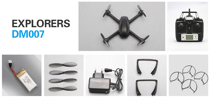 DM007 2.4G 4CH Explorer LCD RC Quadcopter 6 Axis Gyro UFO with 2.0MP Camera