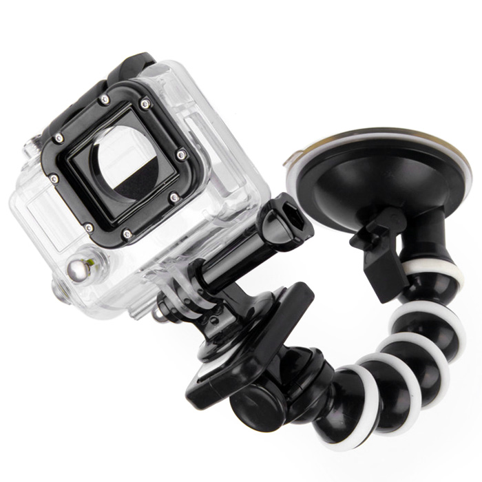 10 inch Car Suction Cup Mount + Adapter + Phone Holder Set for SJ4000 / GoPro Hero 4