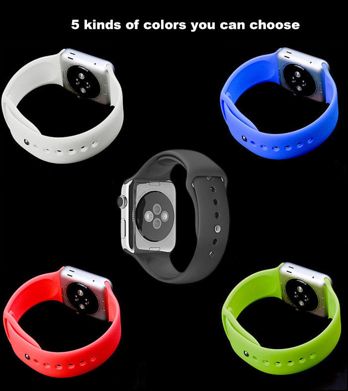 Rubber Watchband Strap for Apple Watch 38mm