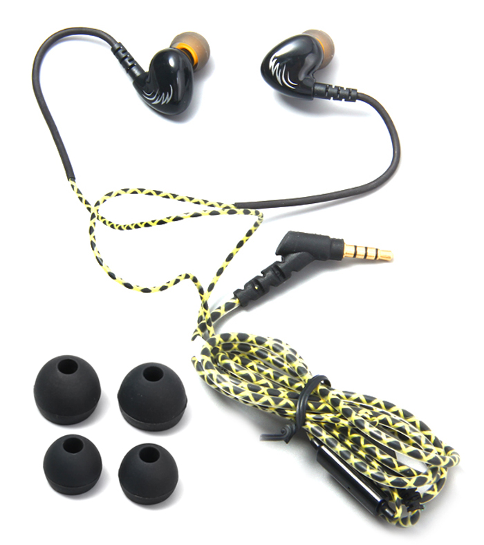COSONIC W1 3.5mm In-Ear Super Bass Sports Earphones Sweat-proof Headset with Microphone for iPhone / Samsung / HTC