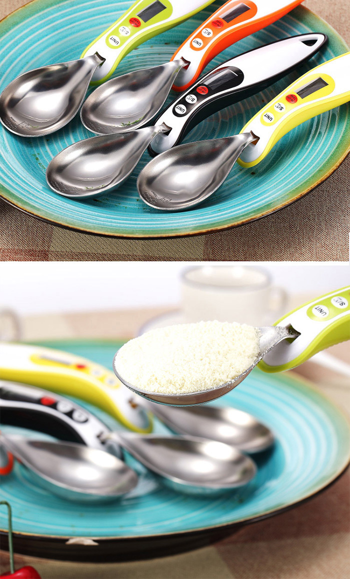 Hostweigh NS-S8 LCD Kitchen Digital Scale Measuring Spoon 300g Capacity Coffee Tea Weighing Device Household Supplies