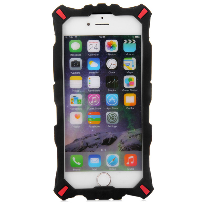 Cool Silicone Back Case Cover with Transformer Face for iPhone 6 - 4.7 inch