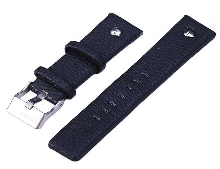 22mm Leather Watchband Strap with Pin Buckle for Watch