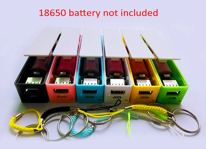 18650 USB DIY Battery Charger Mobile Power Bank Case for iPhone / Samsung / LG / Sony / Nokia Phone