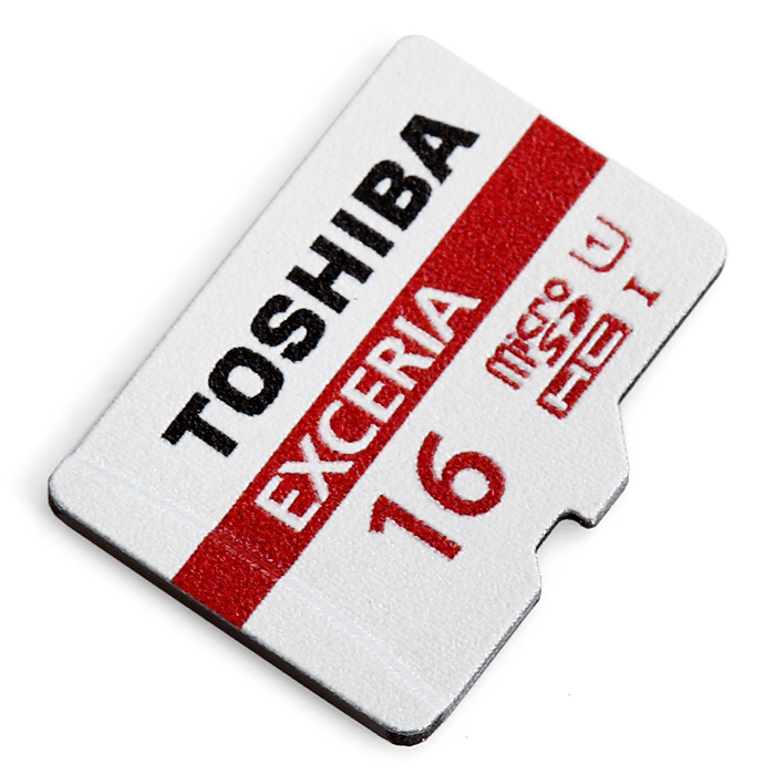 TOSHIBA Exceria 16GB Micro SDHC 48MB/s Class 10 Waterproof UHS-I Memory Card