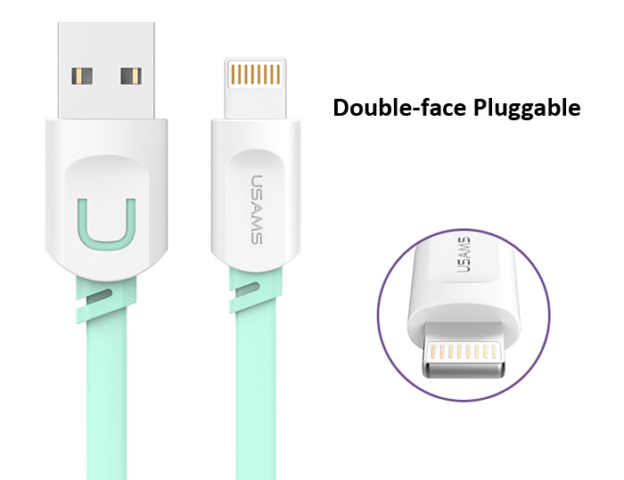 8 Pin 2.1 A Ultra-fast Interface Charge and Sync Flat Cable for iPhone 6 / 6 Plus 5 5S 5C iPad Air etc.