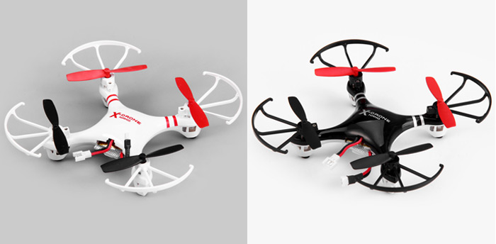 Helicute H107R X-drone Nano 6 Axis Gyro 4CH 2.4G RC Quadcopter with 3D Flips Rolls for RC Enthusiasts