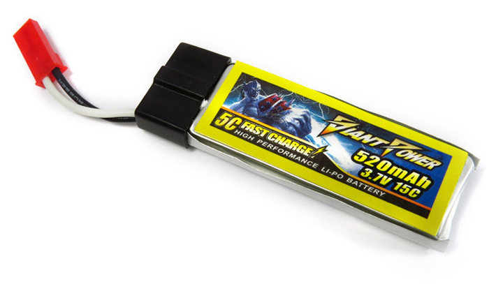 Giant Power 3.7V 520mAh 15C High Performance Battery Fitting for NineEagle 322A V929 / LadyBird V959 120SR MQX