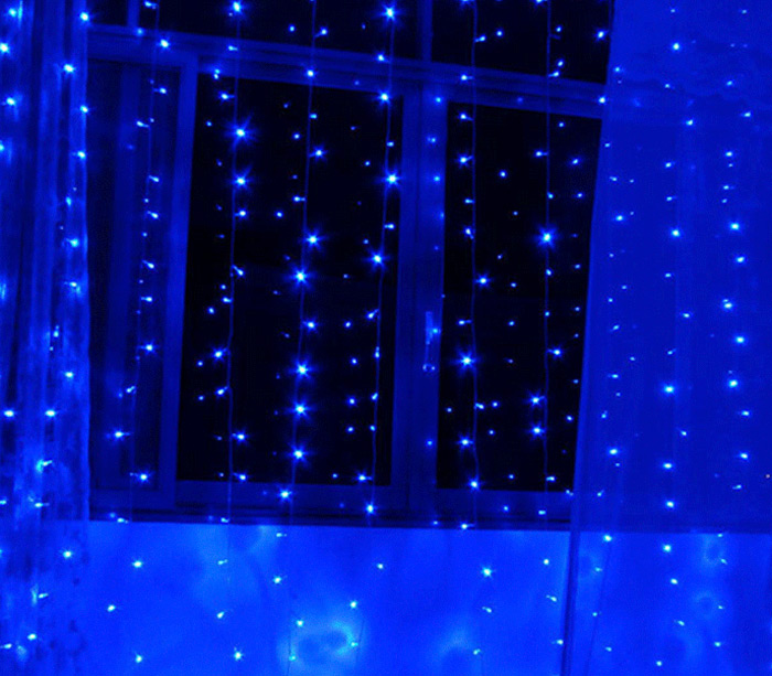 3M x 3M 300 LED String Curtain Light for Christmas Holiday Wedding Party ( 15W 220V EU Plug )
