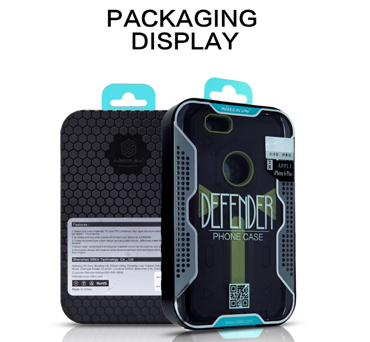 Nillkin PC and Soft TPU Material Phone Back Cover Case with Hollow Out Design for iPhone 6 iPhone 6S - 4.7 inch