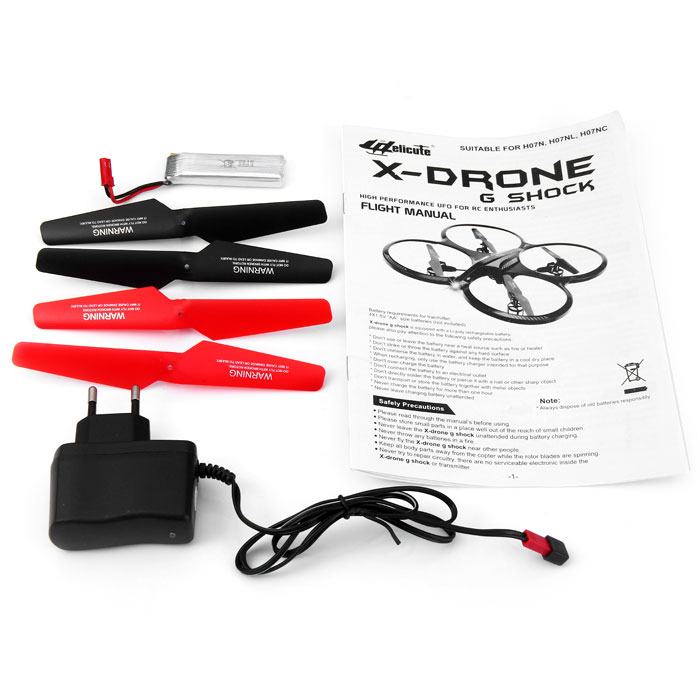 Helicute H07NL X - drone G Shock 6 Axis Gyro 4CH 2.4G RC Quadcopter with 3D Flips Rolls for RC Enthusiasts