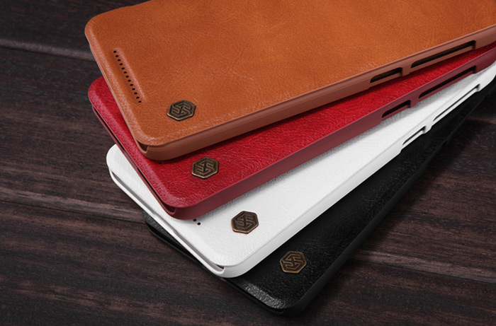 Nillkin PU and PC Material Solid Color Cover Case with Card Holder Function for HTC One E9 Plus
