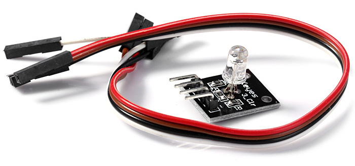 KEYES KY-016 DIY LED Sensor Module 3-Color RGB PWM Tricolor Yin-drive with Dupont Line for Arduino