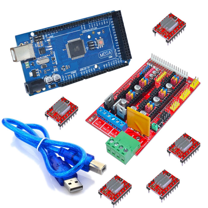 3D Printer Kit Ramps 1.4 Control Board + Mega 2560 R3 Board + A4988 Driver Board with Heatsink