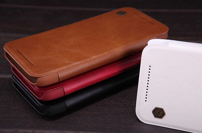 Nillkin PU and PC Material Solid Color Cover Case with Card Holder Function for HTC One M9