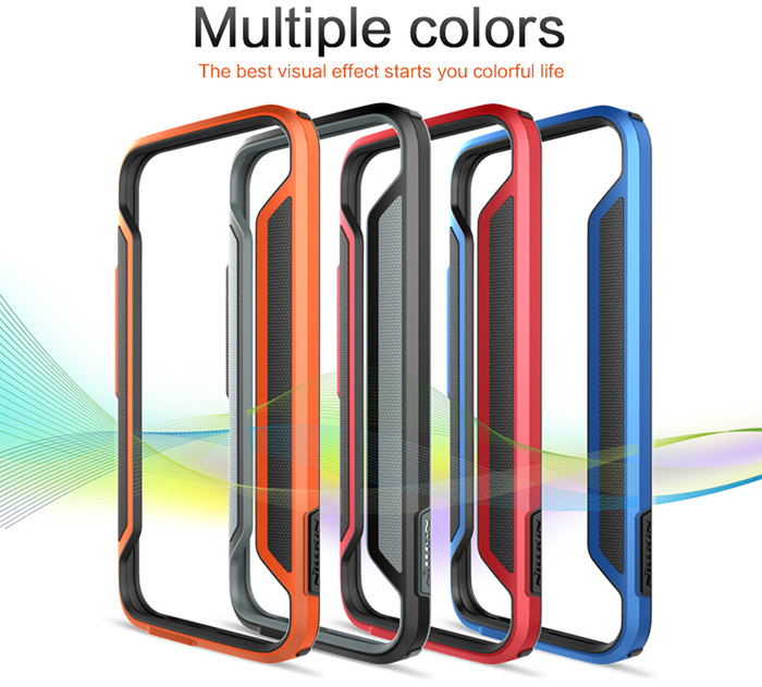 Nillkin PC and Soft TPU Material Phone Bumper Frame Case for HTC One M9