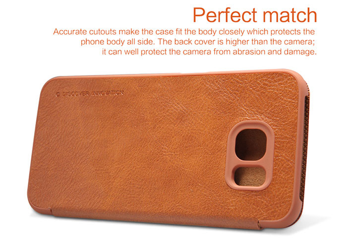 Nillkin PU and PC Material Solid Color Cover Case with Card Holder Function for Samsung Galaxy S6 G920F