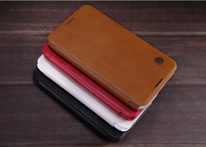 Nillkin PU and PC Material Solid Color Cover Case with Card Holder Function for Sony Xperia E4