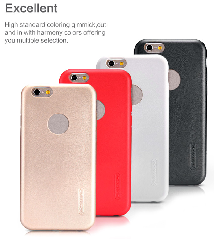 Nillkin PU Leather Phone Back Cover Case with Solid Color Design for iPhone 6 - 4.7 inch