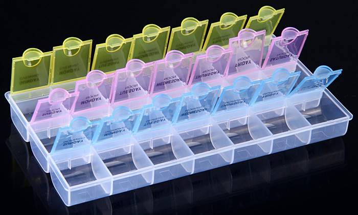 21 Grids Transparent Tool Box for Electronic Component