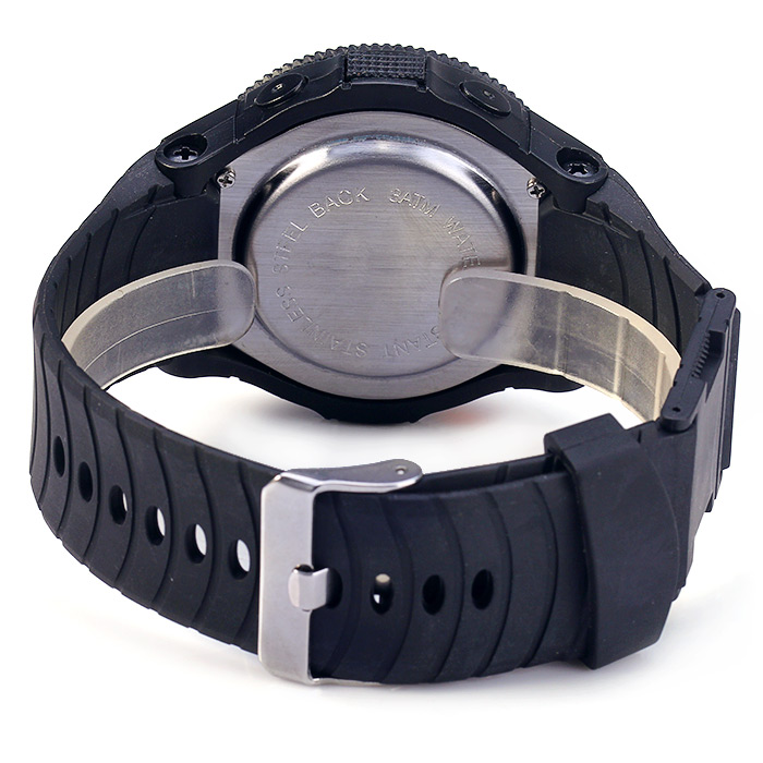 Multifunctional Water Resistant LED Sport Watch with Rubber Band