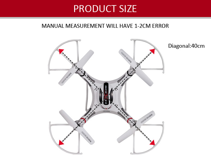 DFD F183D 6 Axis Gyro RC Quadcopter 4CH 5.8G Real-time FPV with 2.0MP HD Camera