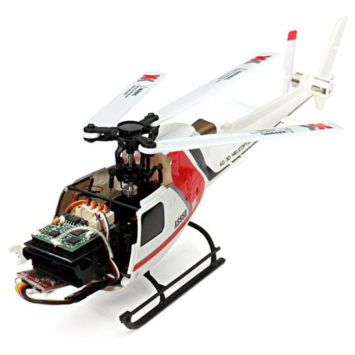 XK K123 2.4GHz 6CH Brushless 3-Blade RC Helicopter RTF Version with 3D and 6G System