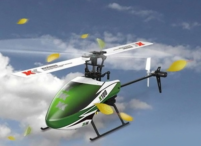 XK K100 - B 2.4GHz 6CH Flybarless Single Blade RC Helicopter BNF Version