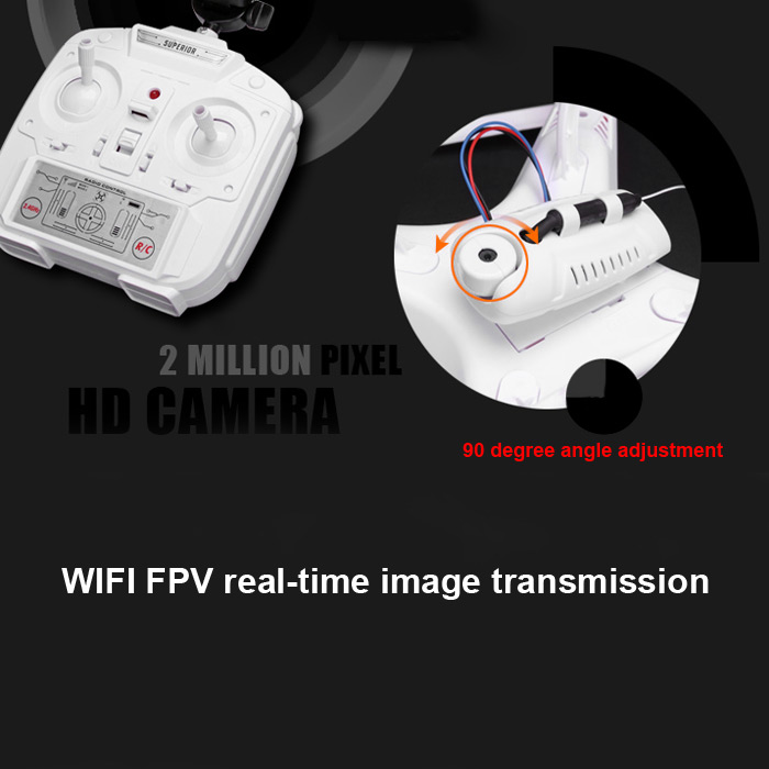 SHENGKAI D97 WIFI FPV HD 2.0 MP Camera 4CH 2.4G RC Quadcopter