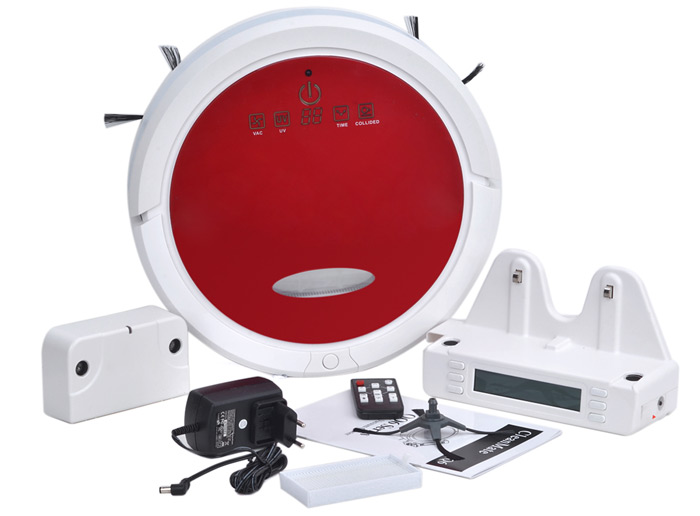 QQ6 3 in 1 Ultrasonic Sensor Intelligent Robot Cleaner with Cleaning / Vacuuming / Mopping Function