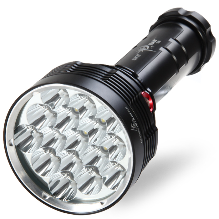 Sky Ray S88 16 x Cree XML 16000LM 4 Modes Superbright Waterproof LED Flashlight ( 6 x 18650 Battery )