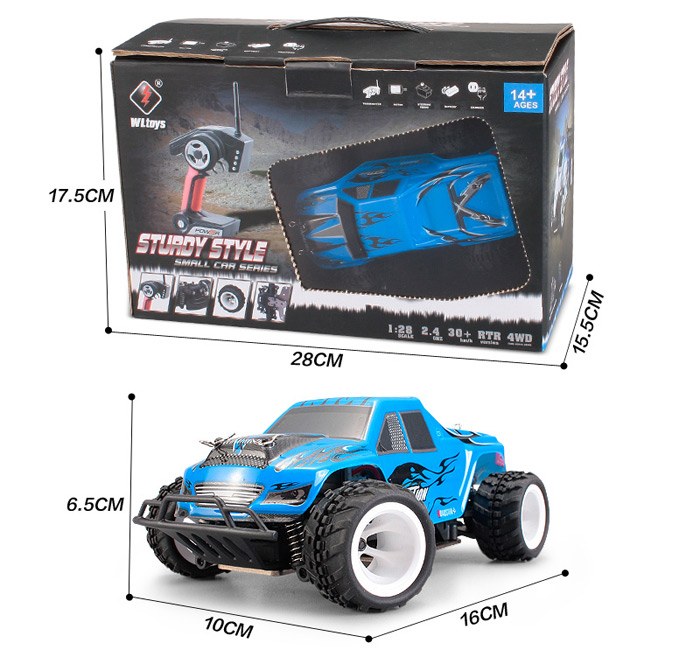 Wltoys P929 2.4G 4WD 1 / 28 30km/h High Speed Buggy RC RTR Car