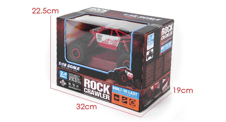 HB - P1802 HB-P1802 HBP1802 1:18 Scale 2.4G 4.8V 700MAH Double motor Four-wheel Drive Rally Car EU Plug